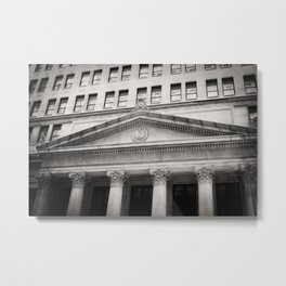 Federal Reserve Bank of Chicago Black and White Metal Print