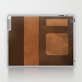 """A series of """"Covers for notebooks"""" . Brown leather. Laptop & iPad Skin"""