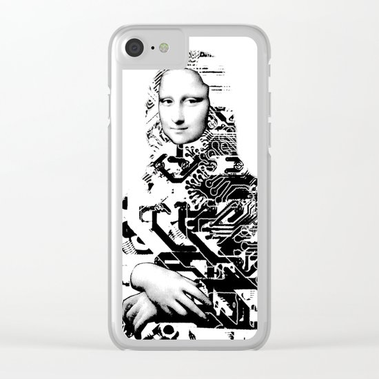 Mona Lisa Platina 1 Clear iPhone Case