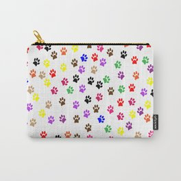 paw prints dog cat color rainbow animals Carry-All Pouch