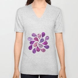 Abstract Water Drops Unisex V-Neck