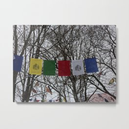 Prayer flags Vilnius Metal Print
