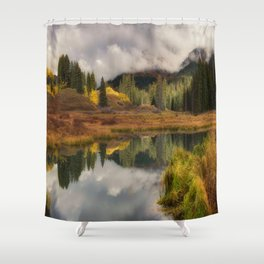Transition Of The Seasons in Rocky Mountain Shower Curtain