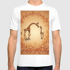 Cute giraffe  Mens Fitted Tee MEDIUM White
