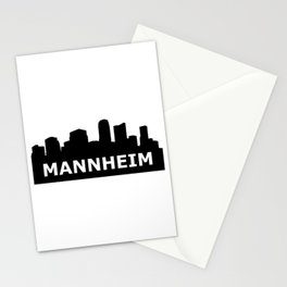 Mannheim Skyline Stationery Cards