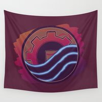 korra Wall Tapestries featuring Sounds Perfect by Rockabirdie