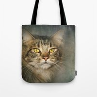 maine Tote Bags featuring Maine Coon by Pauline Fowler ( Polly470 )