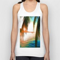 paradise Tank Tops featuring Paradise by Robin Curtiss