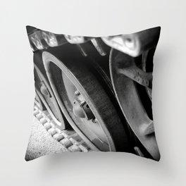 Tank Wheels Throw Pillow