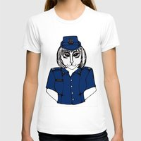police T-shirts featuring Police Kitty by Sofy Rahman