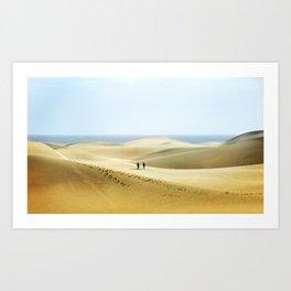 Maspalomas Beach, Gran Canaria. Art Print