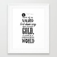 tolkien Framed Art Prints featuring Tolkien quote by Pau Ricart