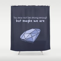 ouat Shower Curtains featuring Swan Queen Quote (OUAT) by CLM Design