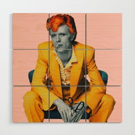 pinky bowie 2 Wood Wall Art