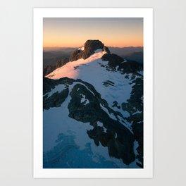 Sunkist Peaks Art Print