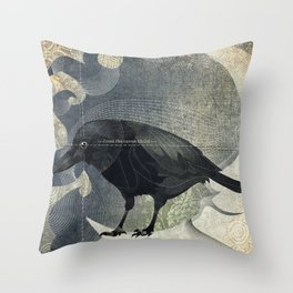 From a raven child Throw Pillow