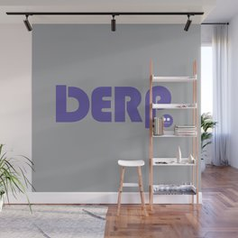 Purple Derp with Gray Wall Mural