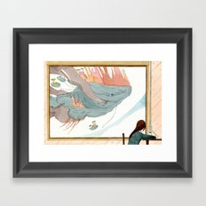 il mondo nuovo-the new world Framed Art Print