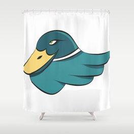 Green Mallard Shower Curtain