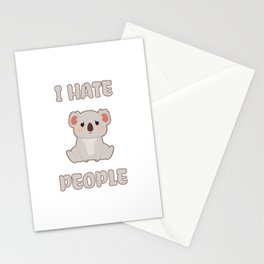 I Hate People Stationery Cards
