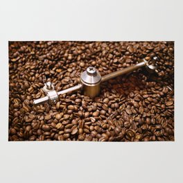 Freshly roasted coffee beans Rug