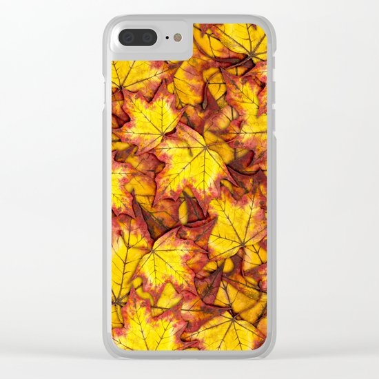 Autumn Leaves 04 Clear iPhone Case