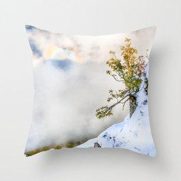 Halo in Caucasian ridge Throw Pillow