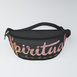 Spiritual Bad-Ass Tropical Gold on black Fanny Pack