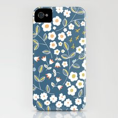 Ditsy Blue Slim Case iPhone (4, 4s)