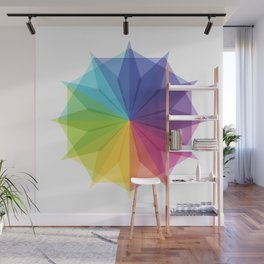 Fig. 010 Colorful Star Shape Wall Mural