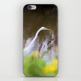 Great White Egret in the Marsh iPhone Skin