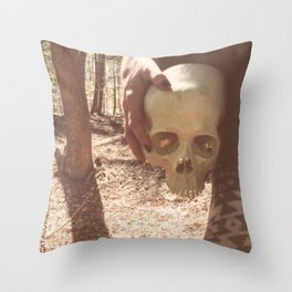 Catacomb Culture - Skull Witch Throw Pillow