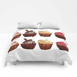 double row of cupcakes Comforters