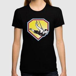 Strongman Lifting Kettlebell Front Retro T-shirt