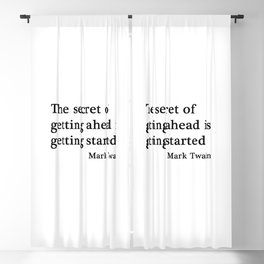 The secret of getting ahead Blackout Curtain