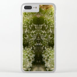 Cannabis Trichome Symmetry Abstract Clear iPhone Case