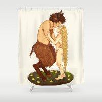 fairytale Shower Curtains featuring Fairytale by deadpokerface