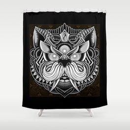Javanese Ornate Dog Shower Curtain