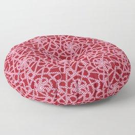 Candy cane flower pattern 1a Floor Pillow