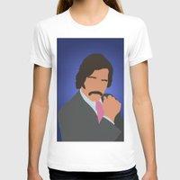 anchorman T-shirts featuring Brian Fantana - Anchorman by Tom Storrer