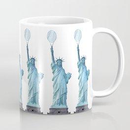 Statue of Liberty with Tennis Racquet Coffee Mug