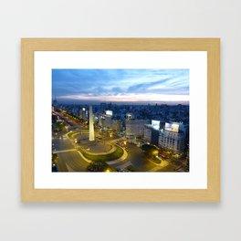 Buenos Aires Obelisco Framed Art Print