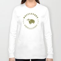 hufflepuff Long Sleeve T-shirts featuring Hufflepuff House by Shelby Ticsay