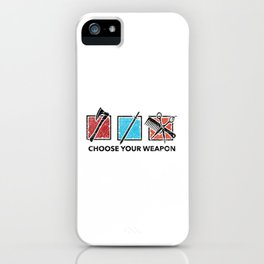 Funny Hairdresser Barber Gift I Choose Four Weapon iPhone Case