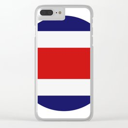 costa rica flag Clear iPhone Case