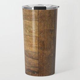 Mid century modern Rustic nordic scandinavian cabin caramel brown wood plank Travel Mug