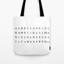 Greek Alphabet Tote Bag