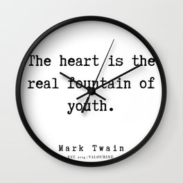 94  | Mark Twain Quotes | 190730 Wall Clock