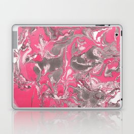 Pink and gray Marble texture acrylic paint art Laptop & iPad Skin