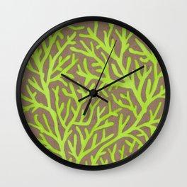 Neon Coral Wall Clock